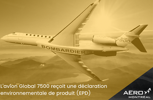 Bombardier Global 7500 Jet Receives Business Aviation's First-ever Environmental Product Declaration